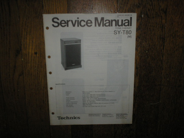 SY-T80 Speaker System Service Manual