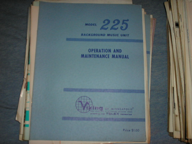 225 Operating Instruction Service Manual  Viking