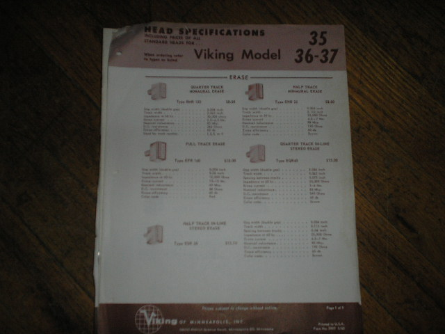 35 36 37 Head Specification Data Sheet  Viking