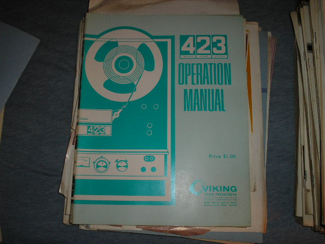 423 Operating Instruction Manual  Viking