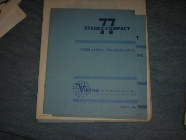 77 Stereo Compact Operating Instruction Manual  Viking