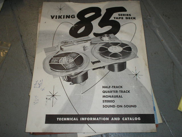85 Tape Deck Technical Information Sheet  Viking