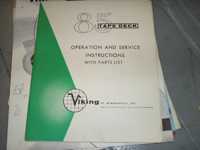 85 Tape Transport Operation and Service Instruction Manual  Viking