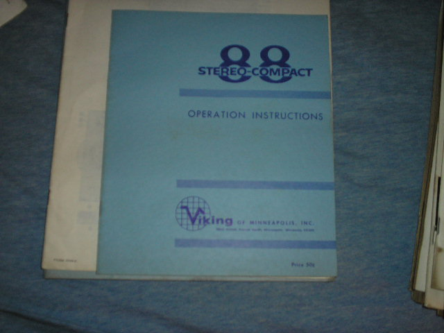 88 Tape Transport Operating Instruction Manual  Viking