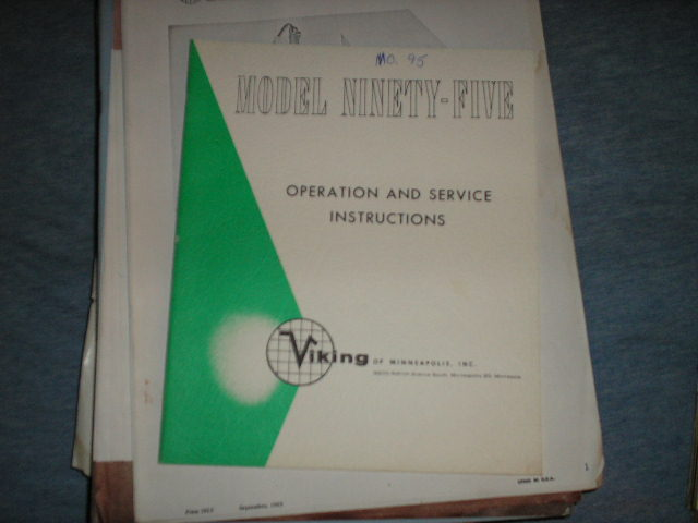 95 Tape Transport Operation and Service Instruction Manual  Viking