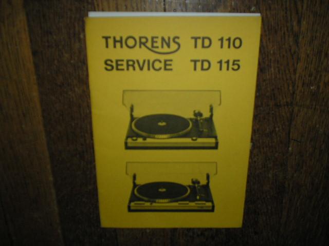 TD 110 TD 115 Turntable Service Manual