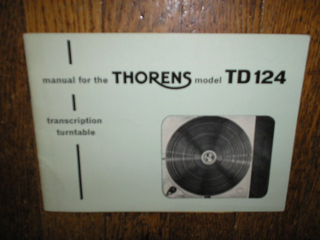 TD 124 Turntable Operator Manual