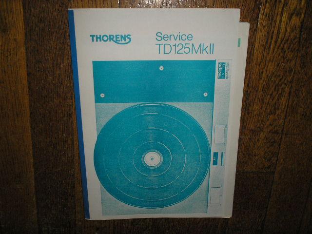 TD 125 Mk II 2 Turntable Service Manual