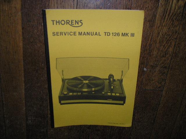 TD 126 Mk III 3 Turntable Service Manual