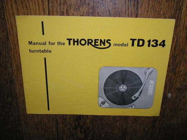 TD 134 Turntable Operator Manual