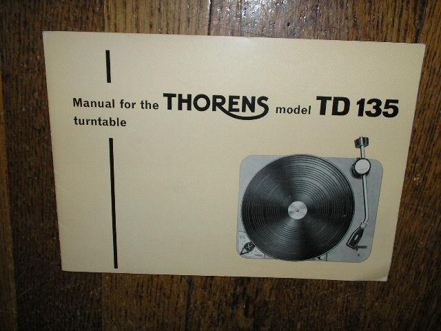 TD 135 Turntable Operator Manual