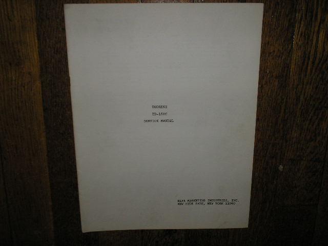 TD-160C Turntable Service Manual