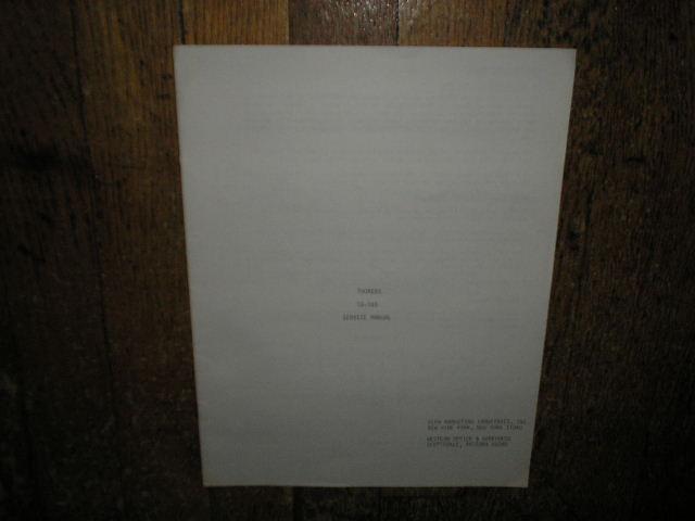 TD-165 Turntable Service Manual