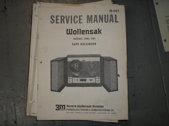 1280 1281 Tape Recorder Service Manual