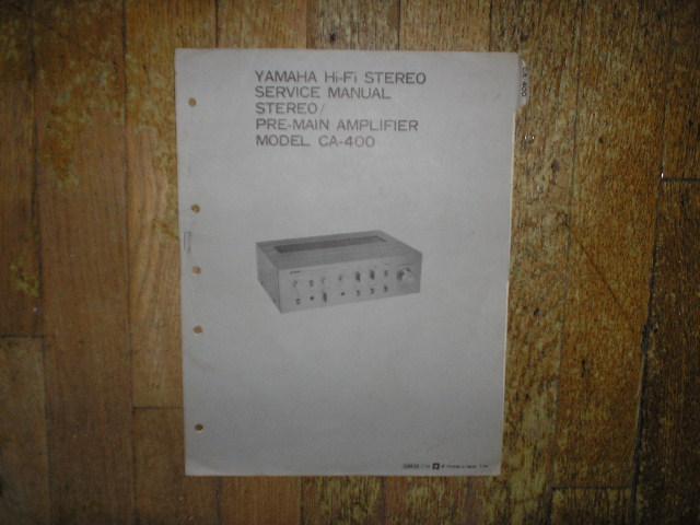 CA-400 Amplifier Service Manual