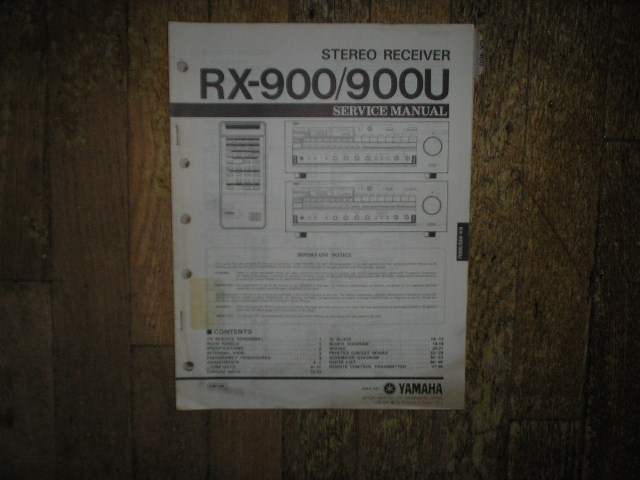 RX-900 RX-900U Stereo Receiver Service Manual