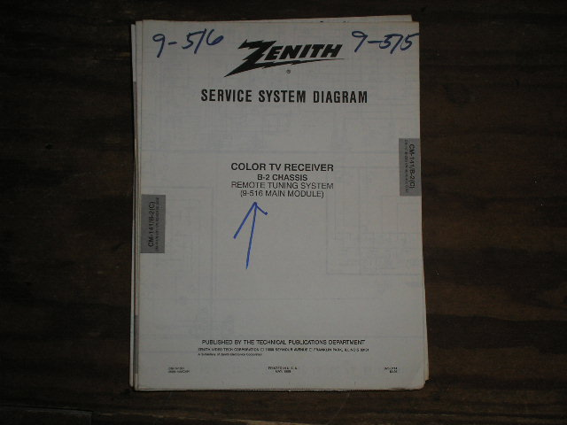 B-2 CM-141 C D Chassis 9-516 Main Module TV Service Diagram Television Service Information With Schematics