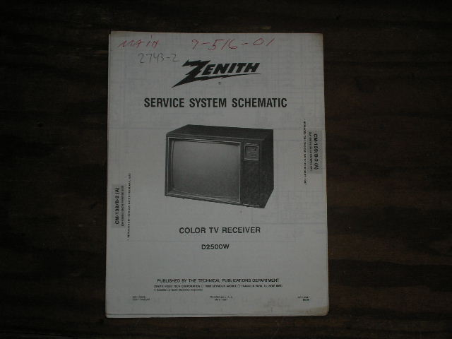 D2500W TV Service Diagram CM-139 B-2 A B Chassis Television Service Information With Schematics
