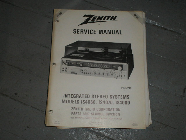 IS4060 IS4070 IS4080 Stereo System Service Manual