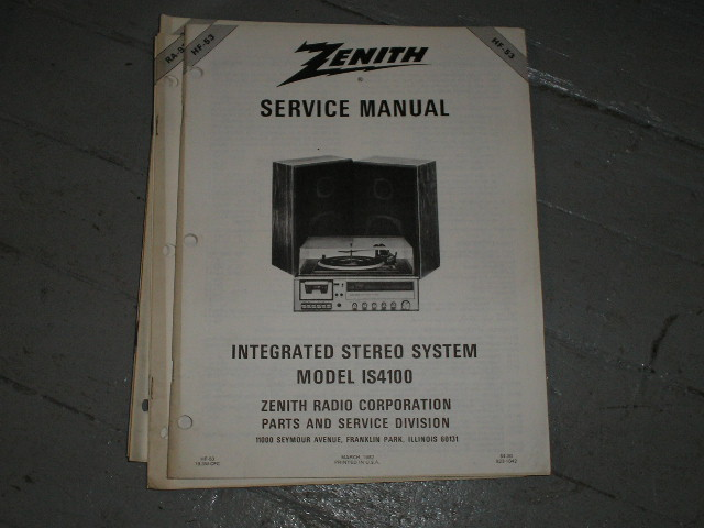 IS4100 Stereo System Service Manual