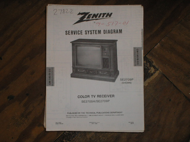 SE2705H SE2709P TV Service Diagram CM-140 B-1 I J ChassisTelevision Service Information With Schematics