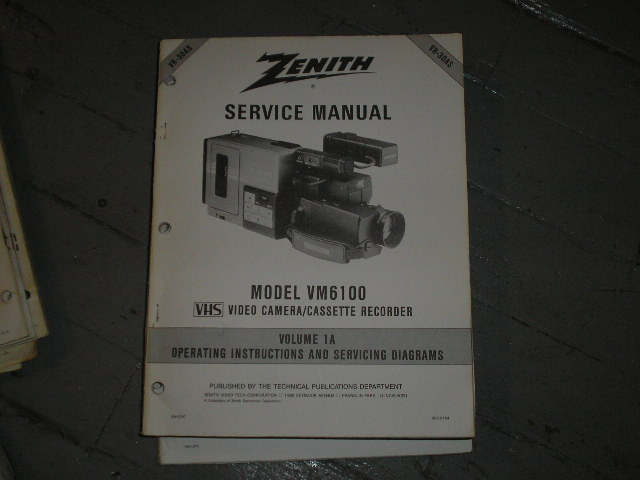VM6100 Camcorder Operating Instuction Manual