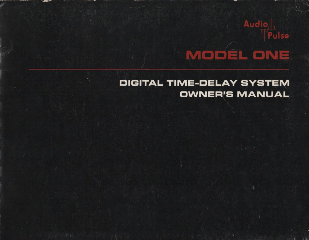 Model 1 Digital Time Delay System Owners Manual