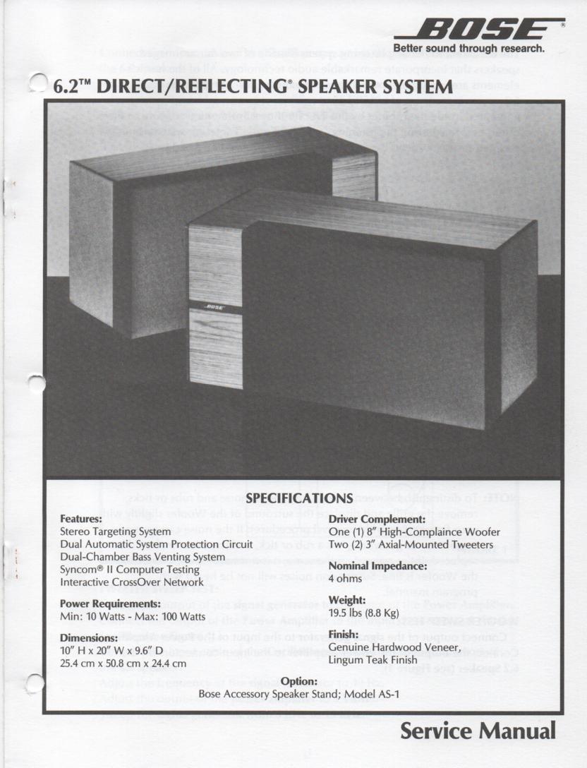 6.2 Series II Speaker Service Manual