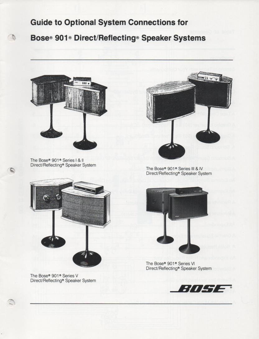 Bose 901 Series V Speakers Manual Silver Cast Warowl 301 Wiring Diagram Chucks Stuff Has This Pair Of Vintage 1984