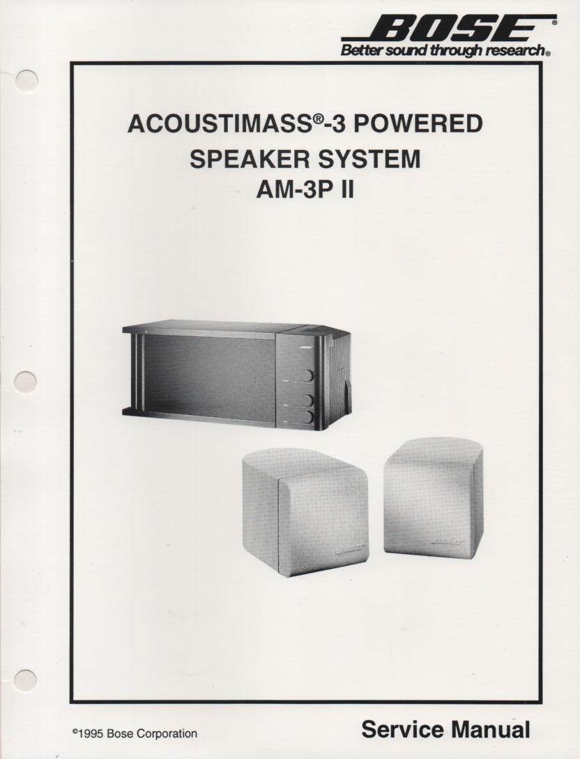 AM-3P Powered Acoustimass-3 Series II Speaker System Service Manual.    175032 1/95