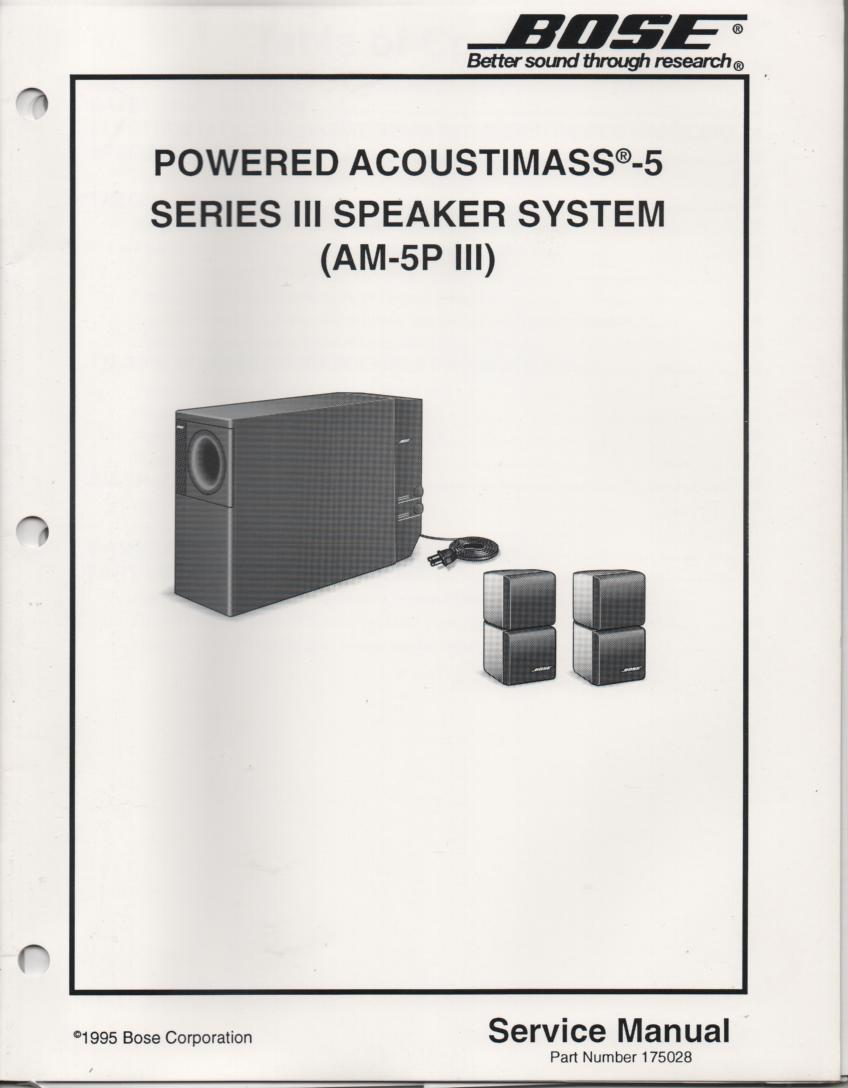 Bose Acoustimass 3 Series Ii Manual 5 Wiring Diagram