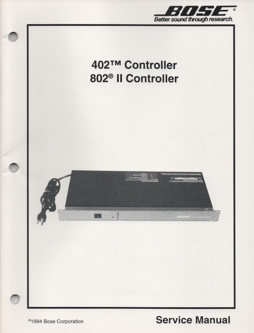 402 802 II Controller Service Manual