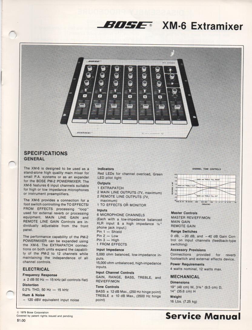 XM-6 Extramixer Service Manual