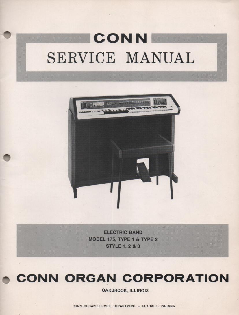 175 Type 1 & 2 Style 1 2 3 Organ Service Manual.
