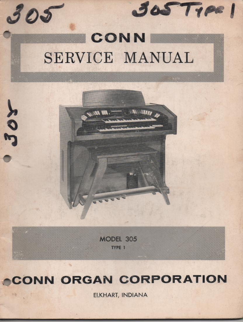 305 Type-1 Organ Service Manual
