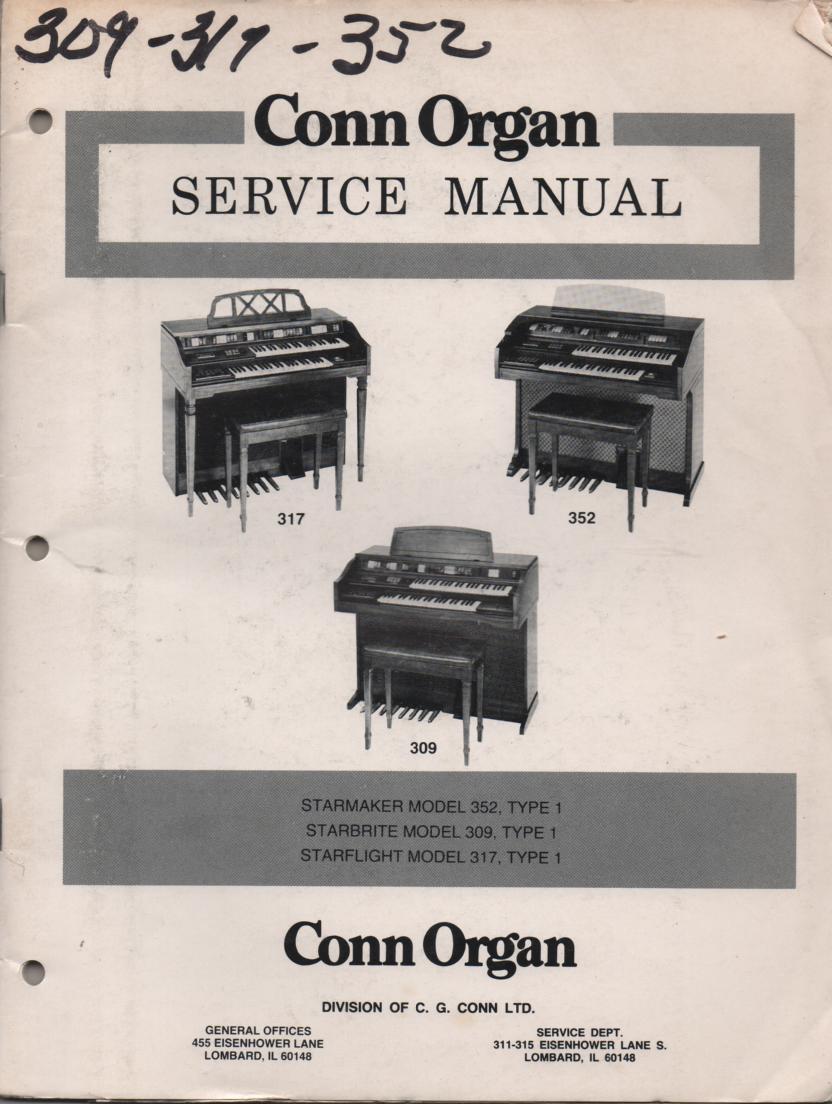 317 Starflight Type-1 309 352 Organ Service Manual