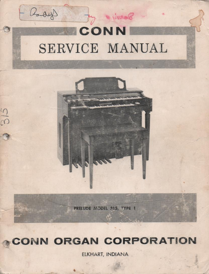 315 Type-1 Organ Service Manual