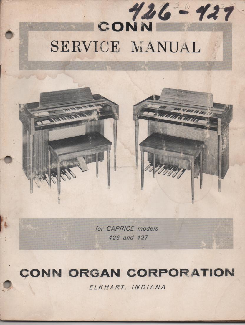 426 427 Caprice Organ Service Manual