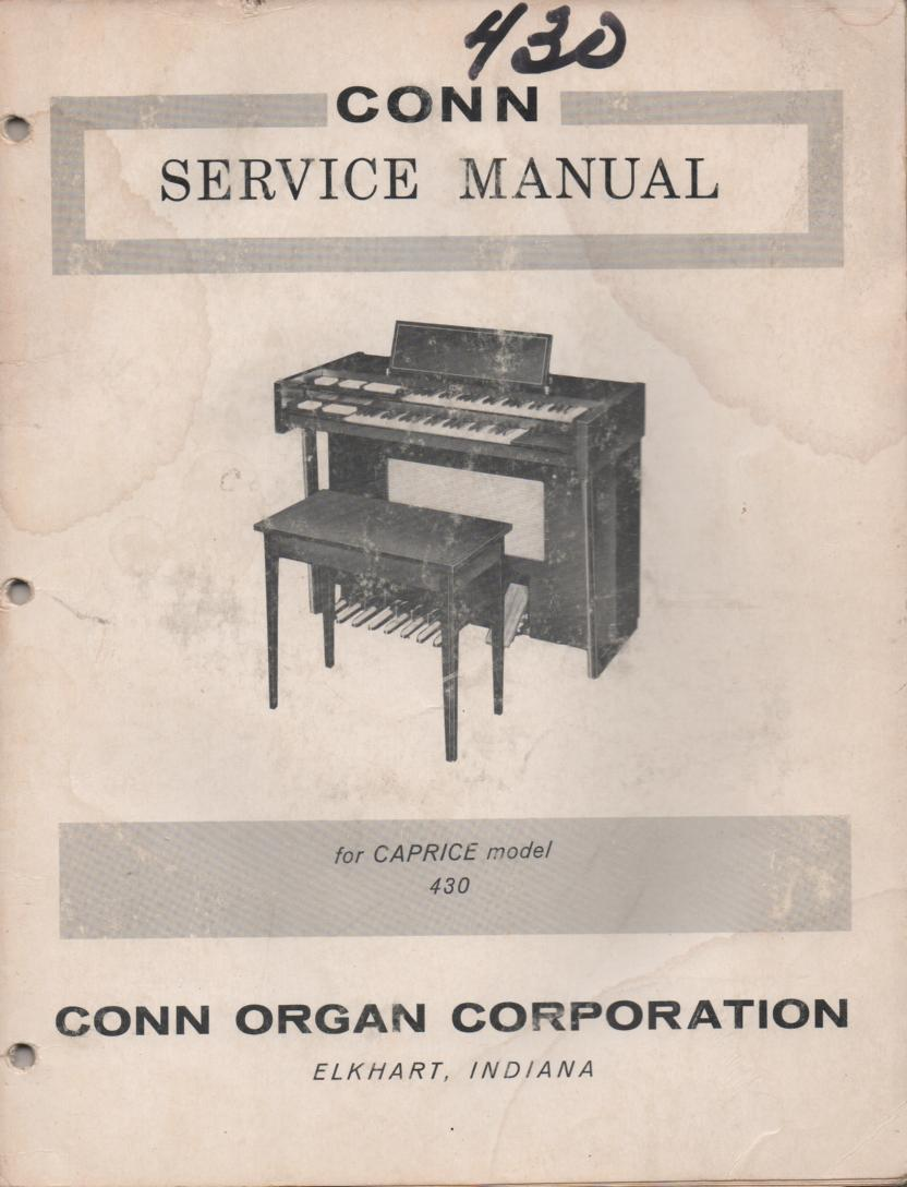 430 Caprice Organ Service Manual