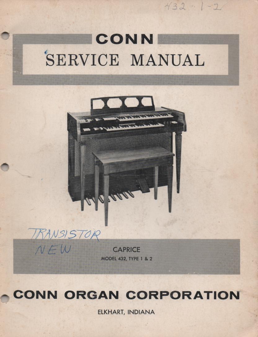 432 Caprice Type 1 & 2 Organ Service Manual