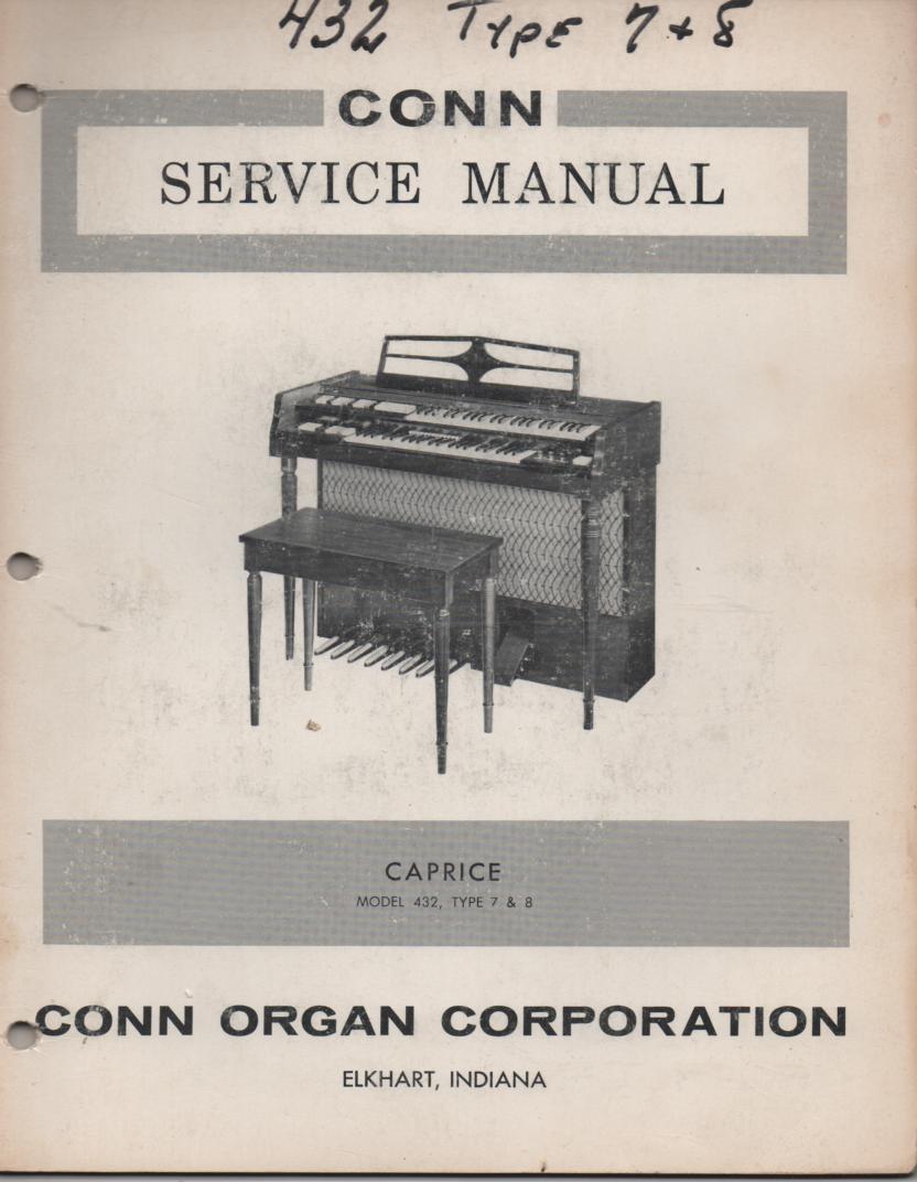 432 Caprice Type 7 & 8 Organ Service Manual