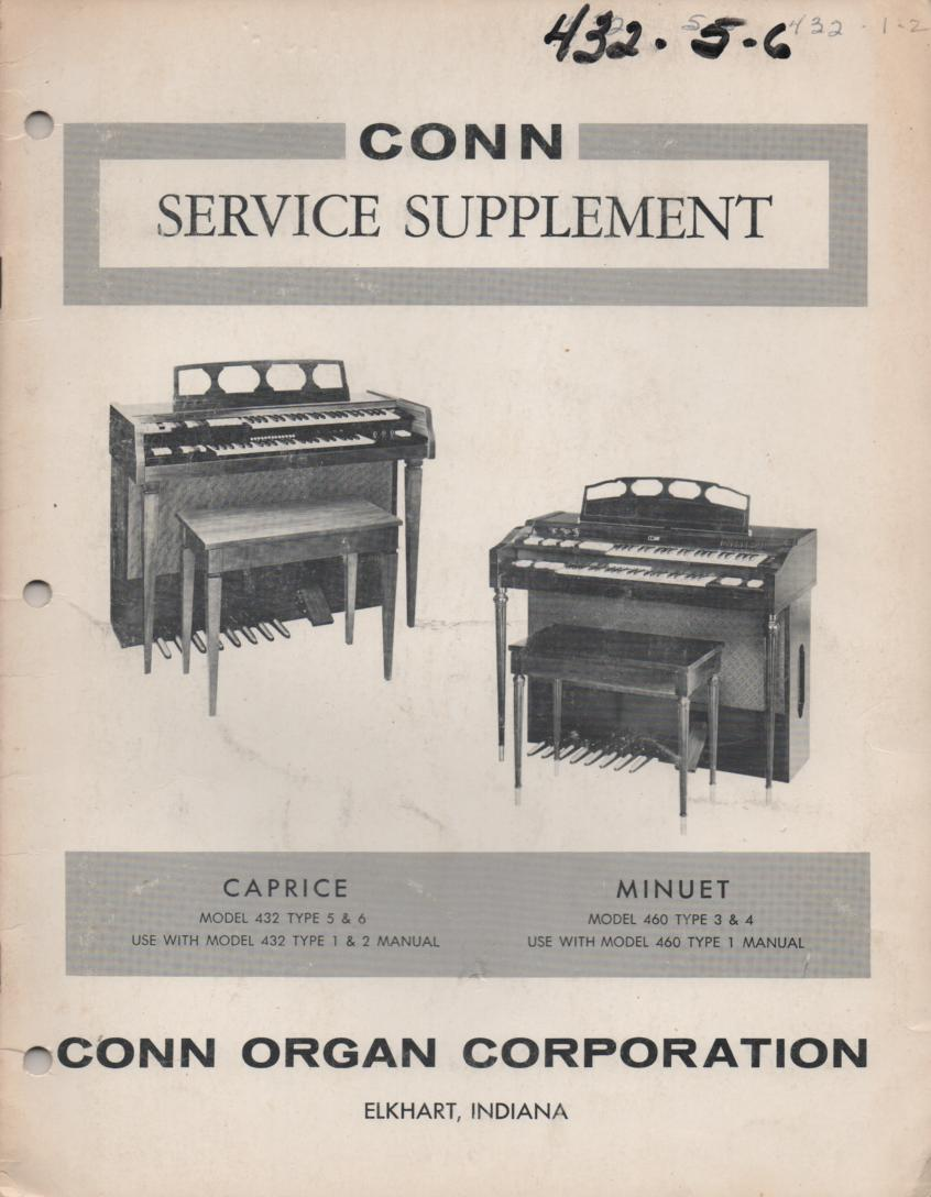 432 Caprice Type 5 & 6 Organ Supplement Service Manual