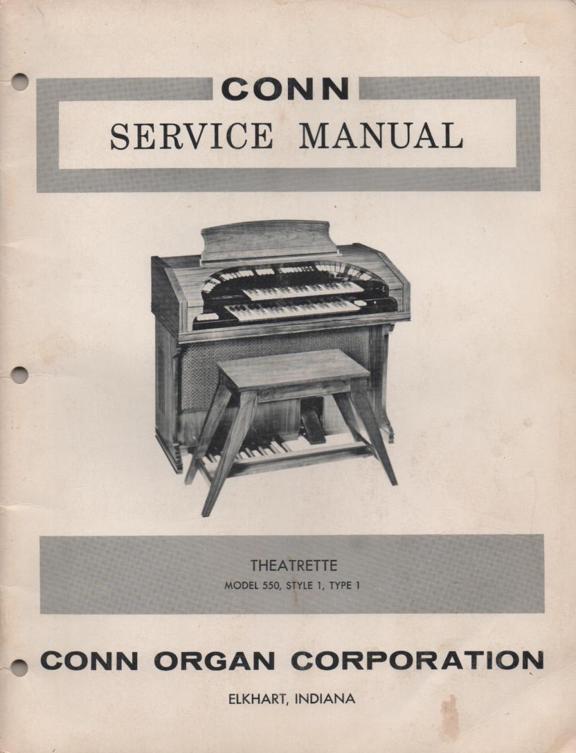 550 Organ Type 1 Service Manual