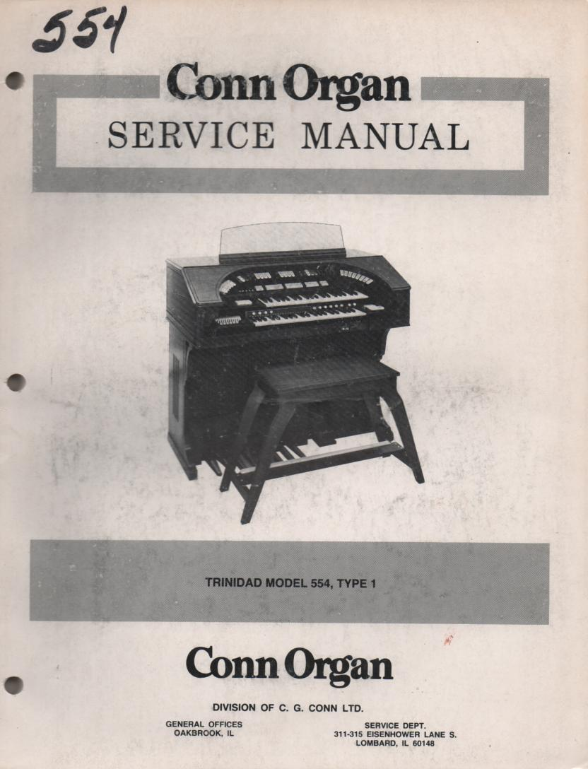 545 Nassau 553 Trinidad Type 1 Organ Service Manual