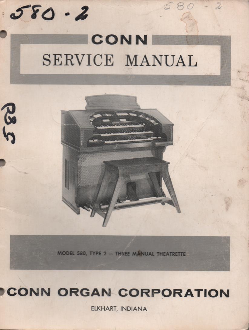 580 Three Manual Theatrette Type 2 Organ Service Manual