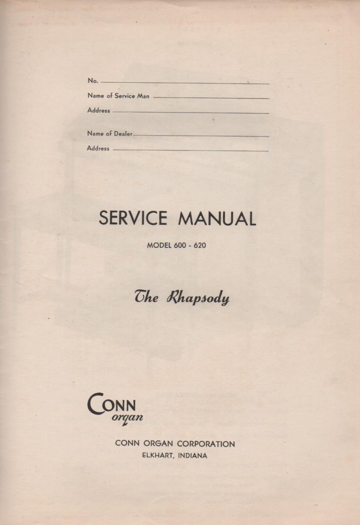 600 620 The Rhapsody Service Manual