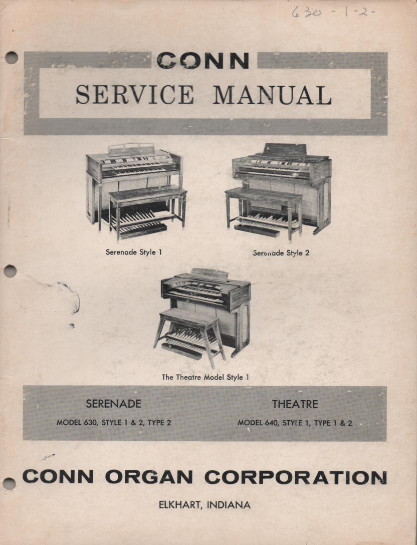 630 Serenade 640 Theatre Organ Service Manual