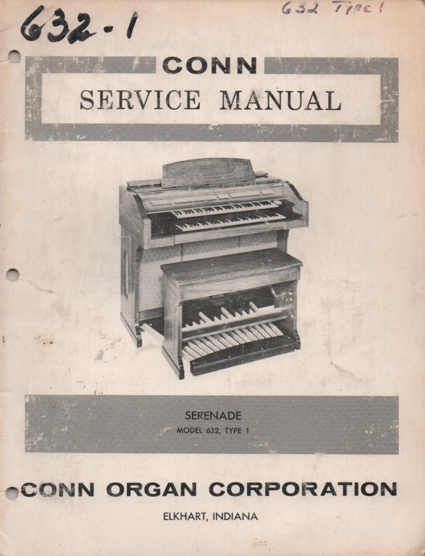 632 Serenade Organ Service Manual