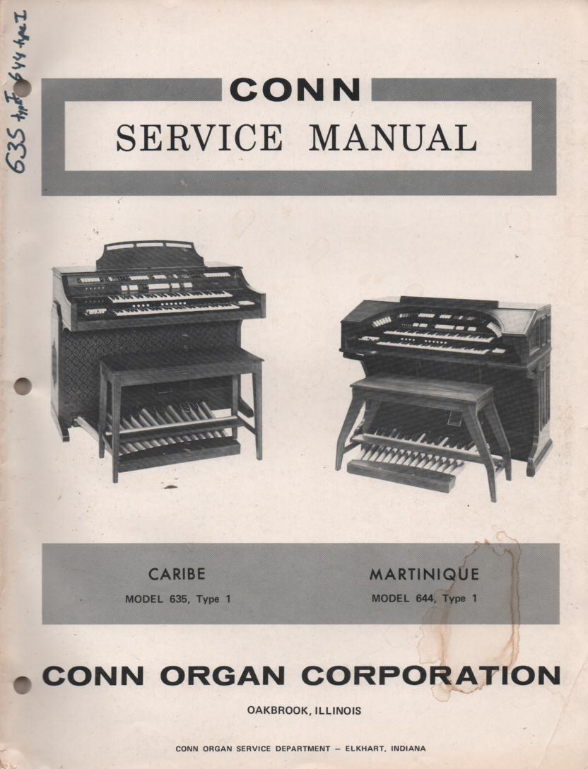 635 644 Type 1 Organ Service Manual.
