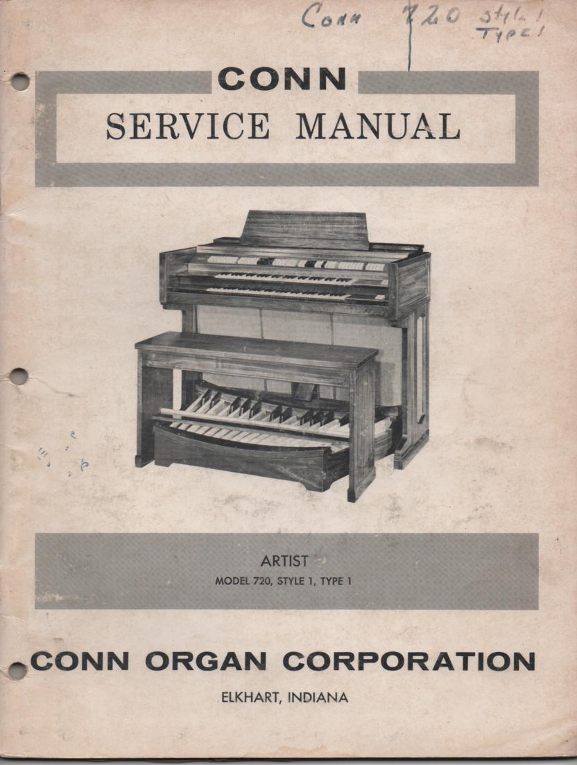 720 Artist Type 1 Style Organ Service Manual